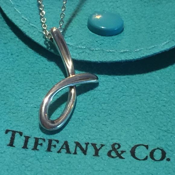 """fbe5381616e09 Tiffany & Co. """"J"""" Necklace Elsa Peretti Authentic"""